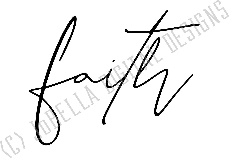 Faith SVG and Printable - Spiritual Motivational Design example image 3
