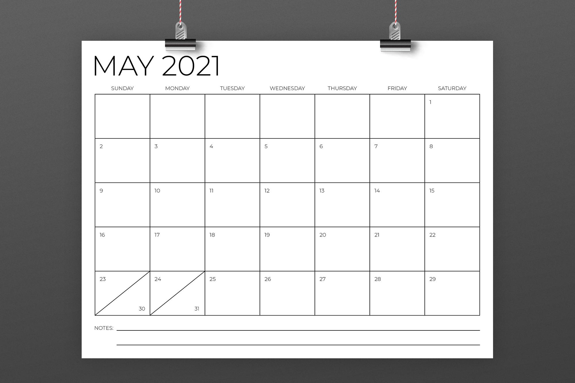 8.5 x 11 Inch Minimal 2021 Calendar example image 4