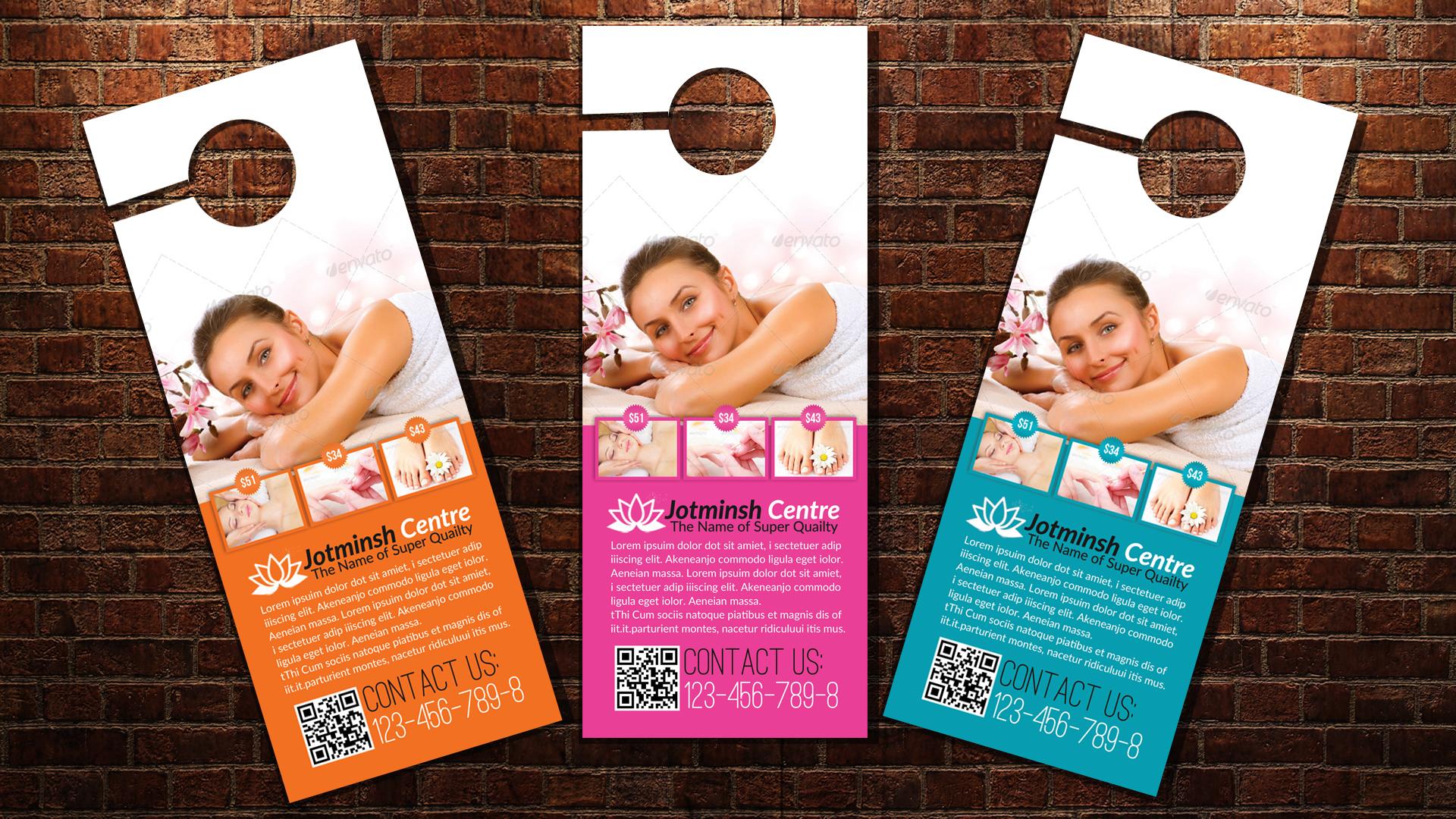 Beauty Spa & Massage Door Hangers example image 3