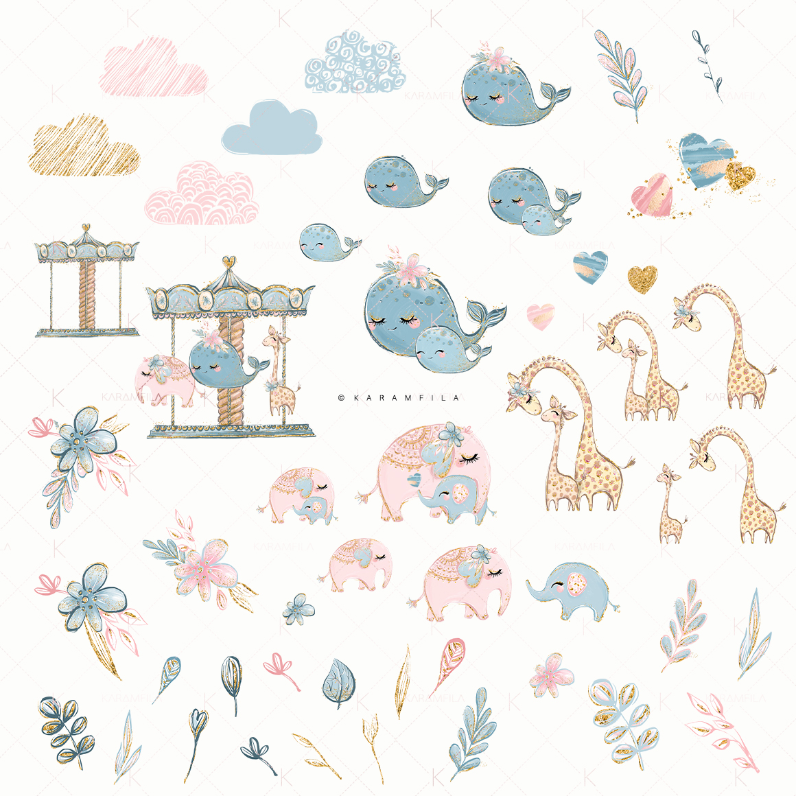Mother and Baby Animals Clipart example image 2