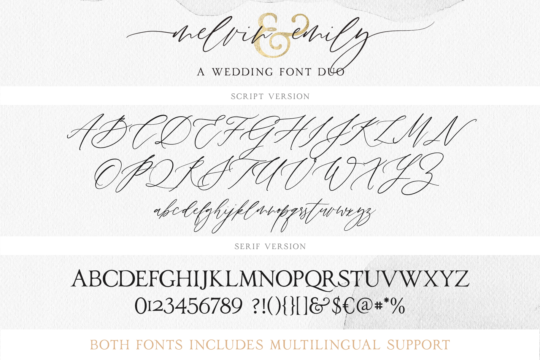 Melvin and Emily Font Duo example image 7