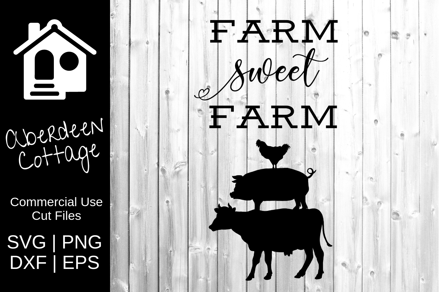 Farm Sweet Farm Design - SVG, PNG, DXF, EPS Formats example image 2