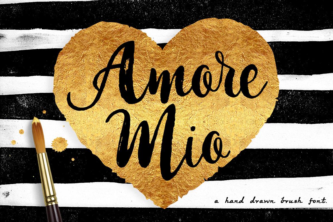 Amore Mio Brush Font example image 1