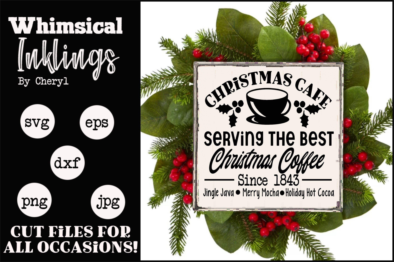 Christmas Cafe-Coffee SVG example image 1