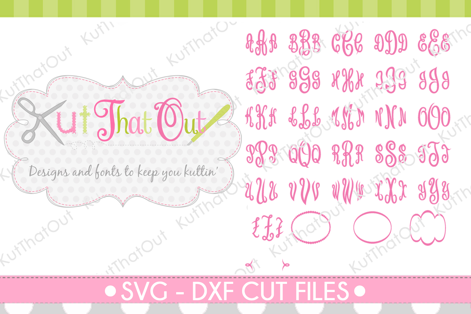 Empress Monogram Font SVG & DXF Cut File example image 3
