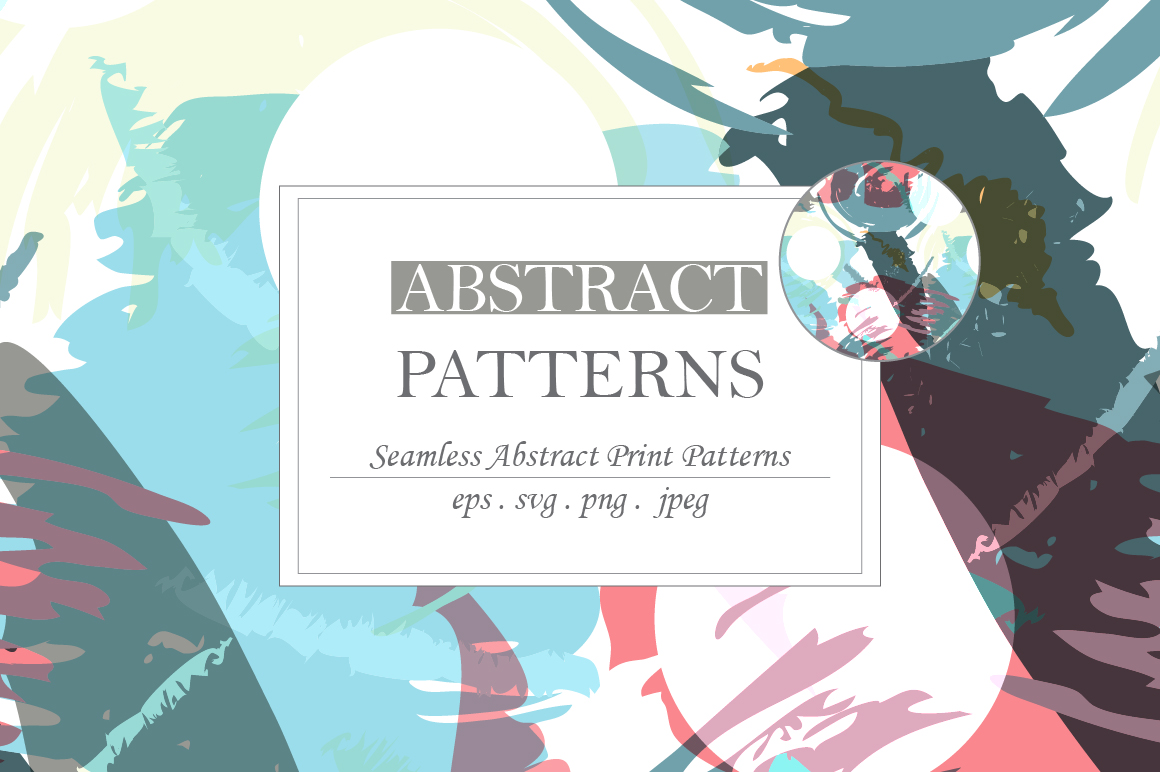 Abstract brush strokes patterns example image 7