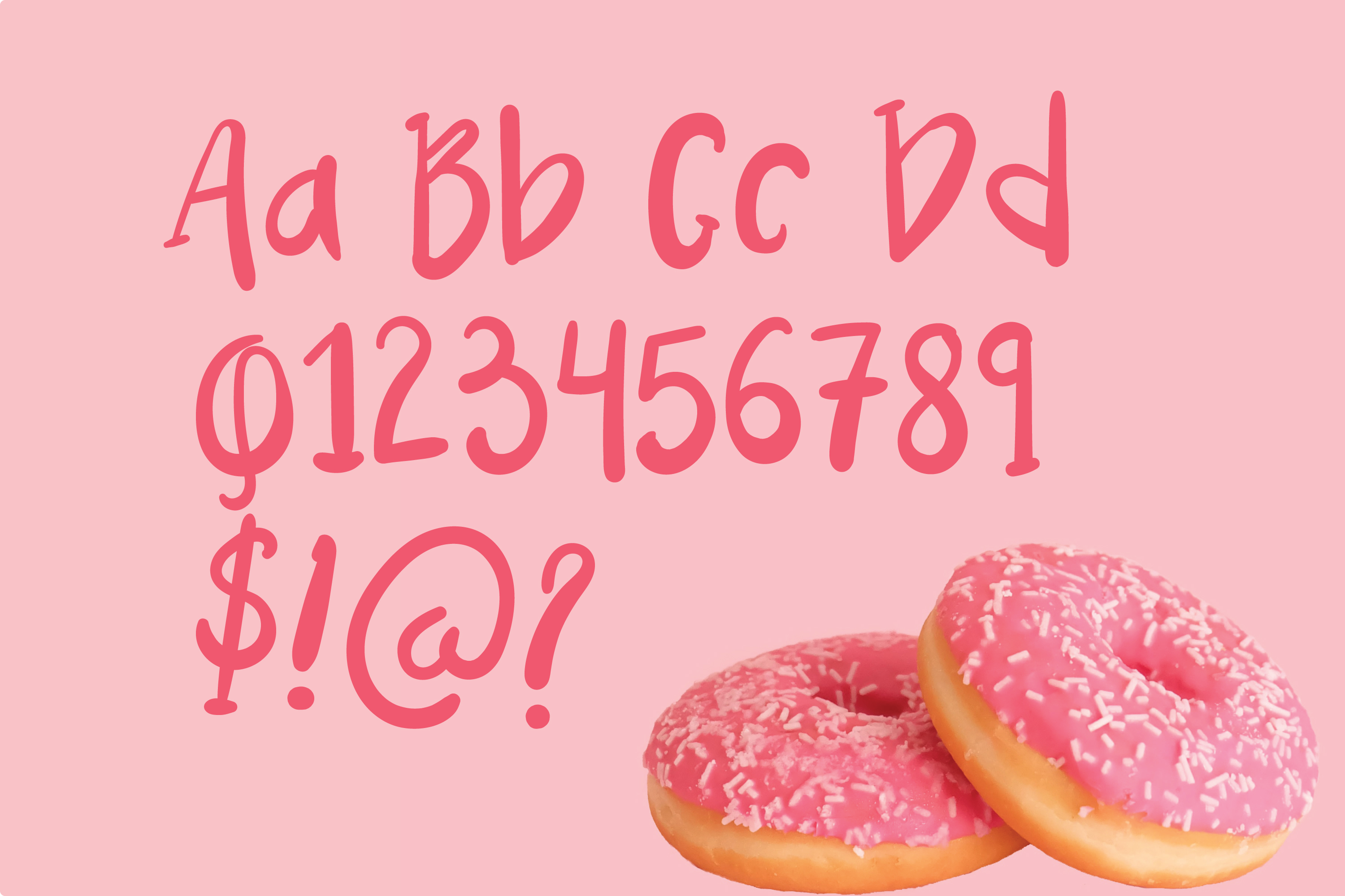 Pink Donuts - Hand drawn Cute Font example image 3