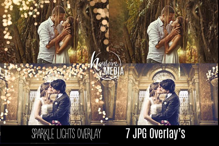 Digital Sparkle Bokeh Lights Effect Overlay JPG example image 1