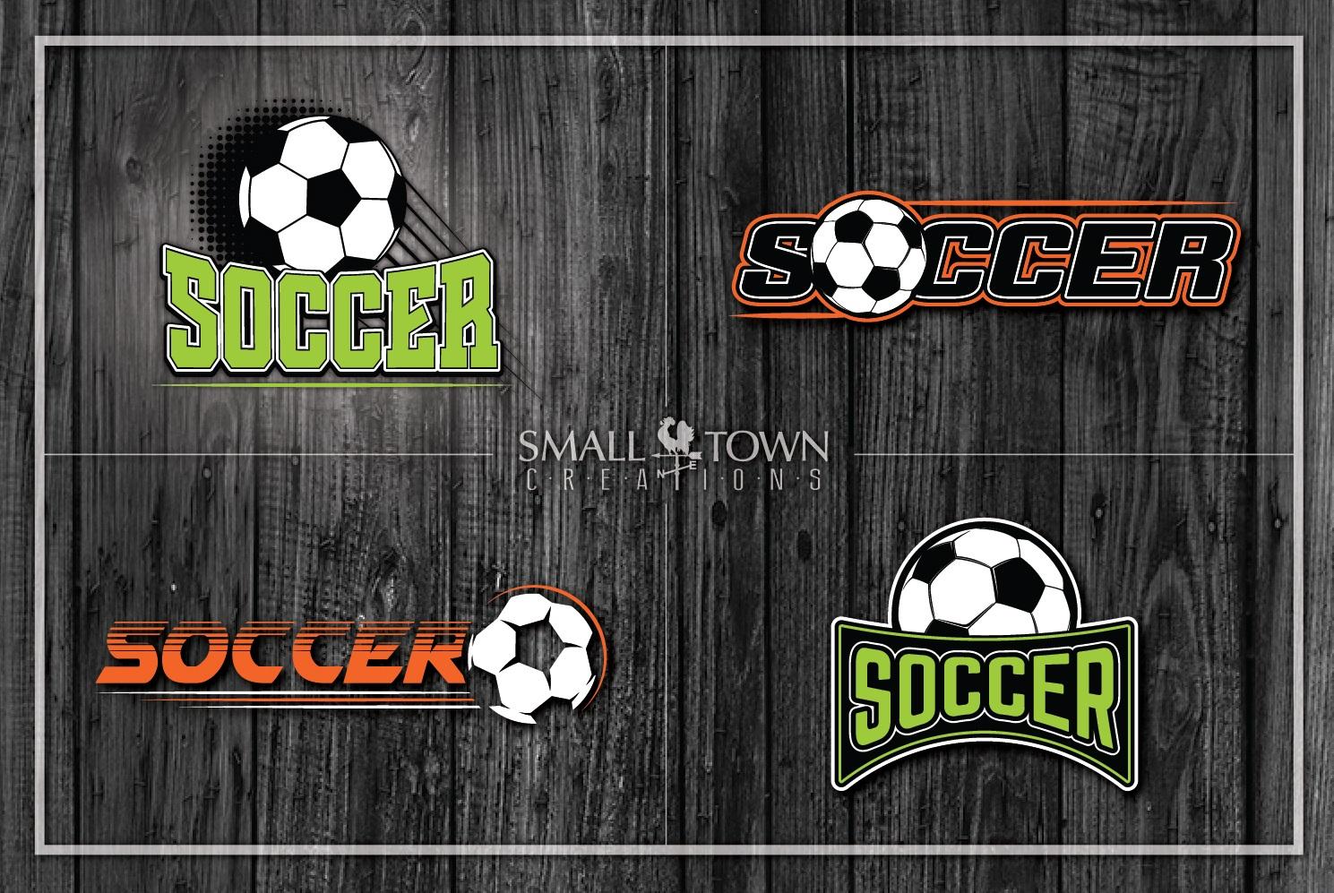 Soccer bundle, Soccer ball, team logo, PRINT, CUT & DESIGN example image 1