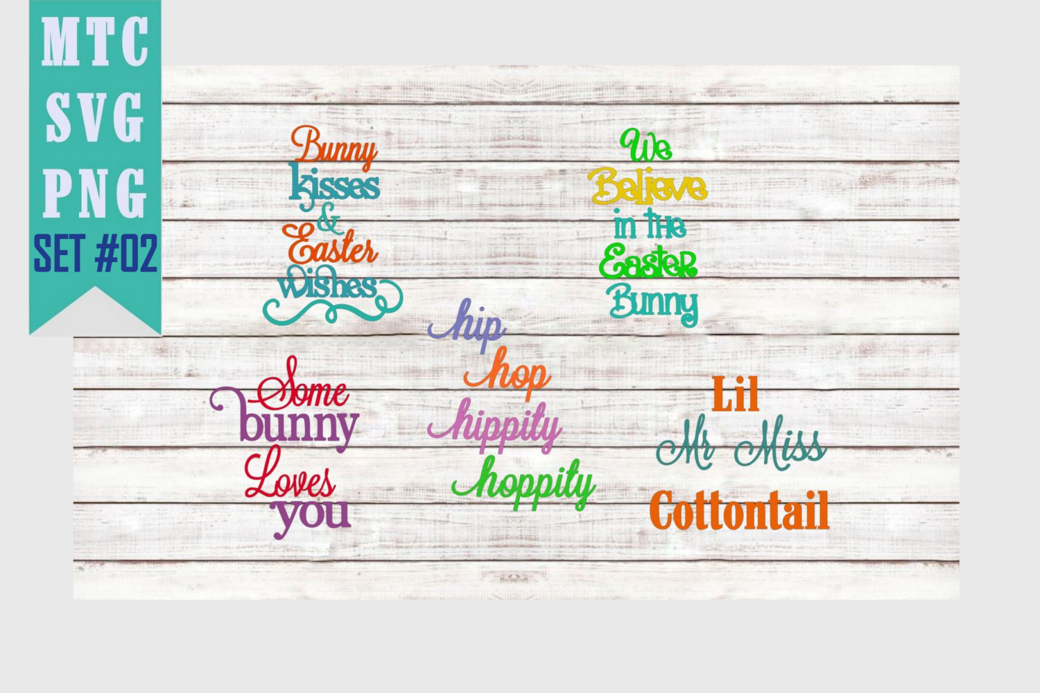 Peeping Easter Bunny Set #2 with Sayings Set #1 SVG Cut File example image 2