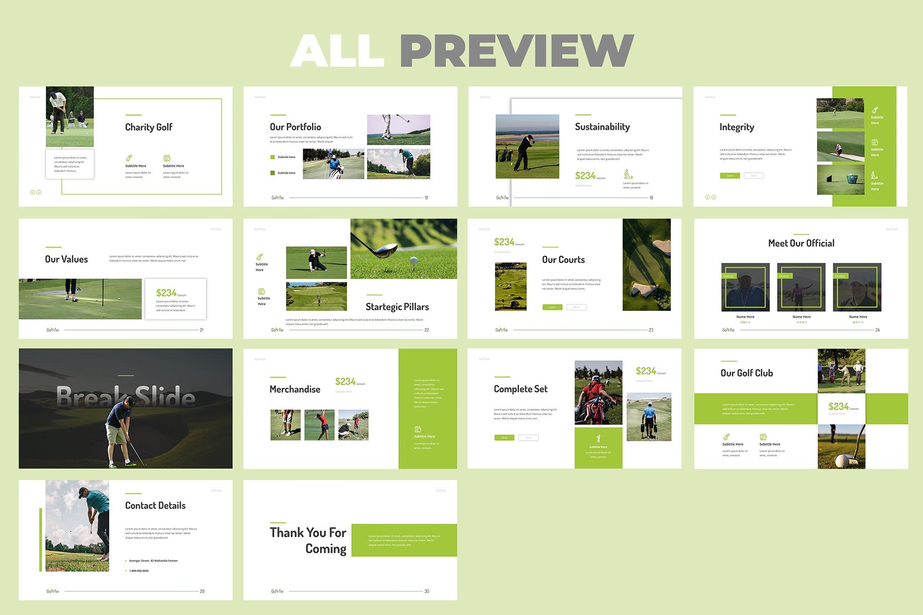 Golfie Golf Keynote Presentation example image 6