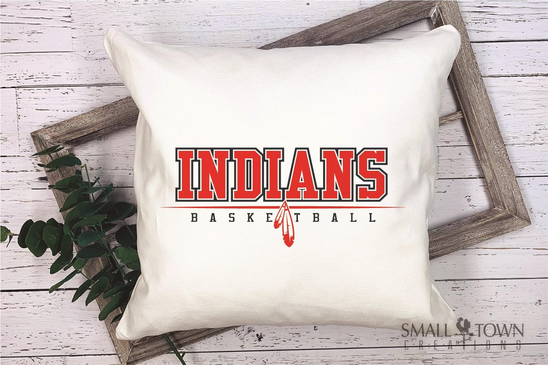 Indian, Indian basketball, Team, logo, PRINT, CUT & DESIGN example image 4