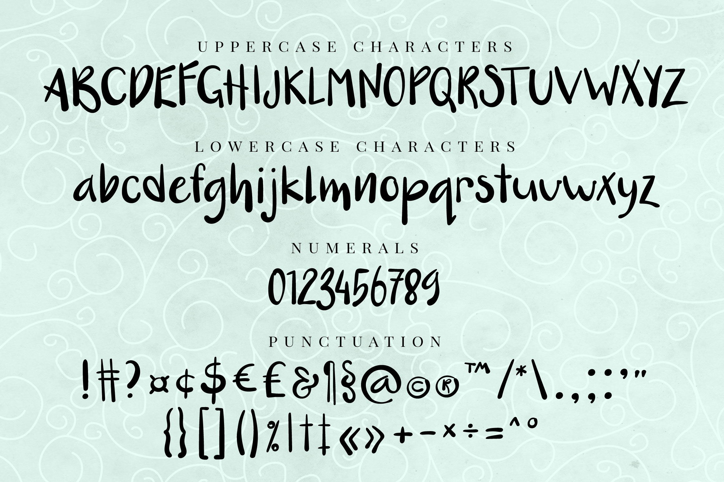 Nut Monster - handdrawn font example image 5