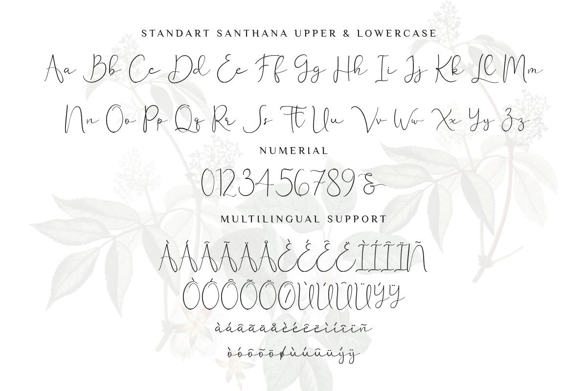 Santhana Lovely Script Font example image 8