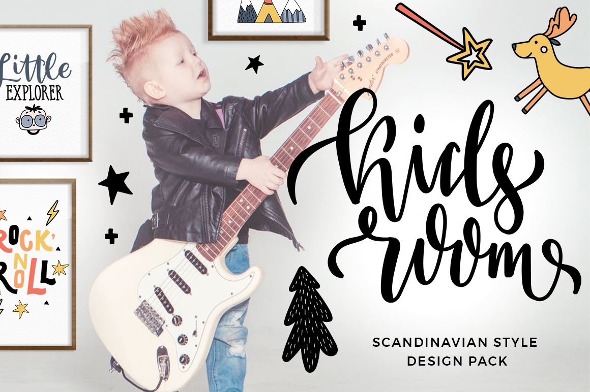 Kids room - scandinavian design pack example image 1