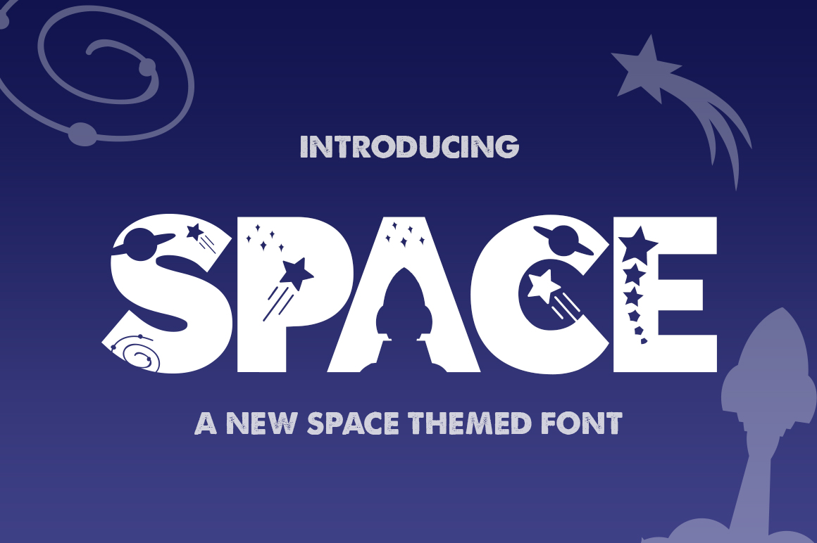 The Space Font example image 1