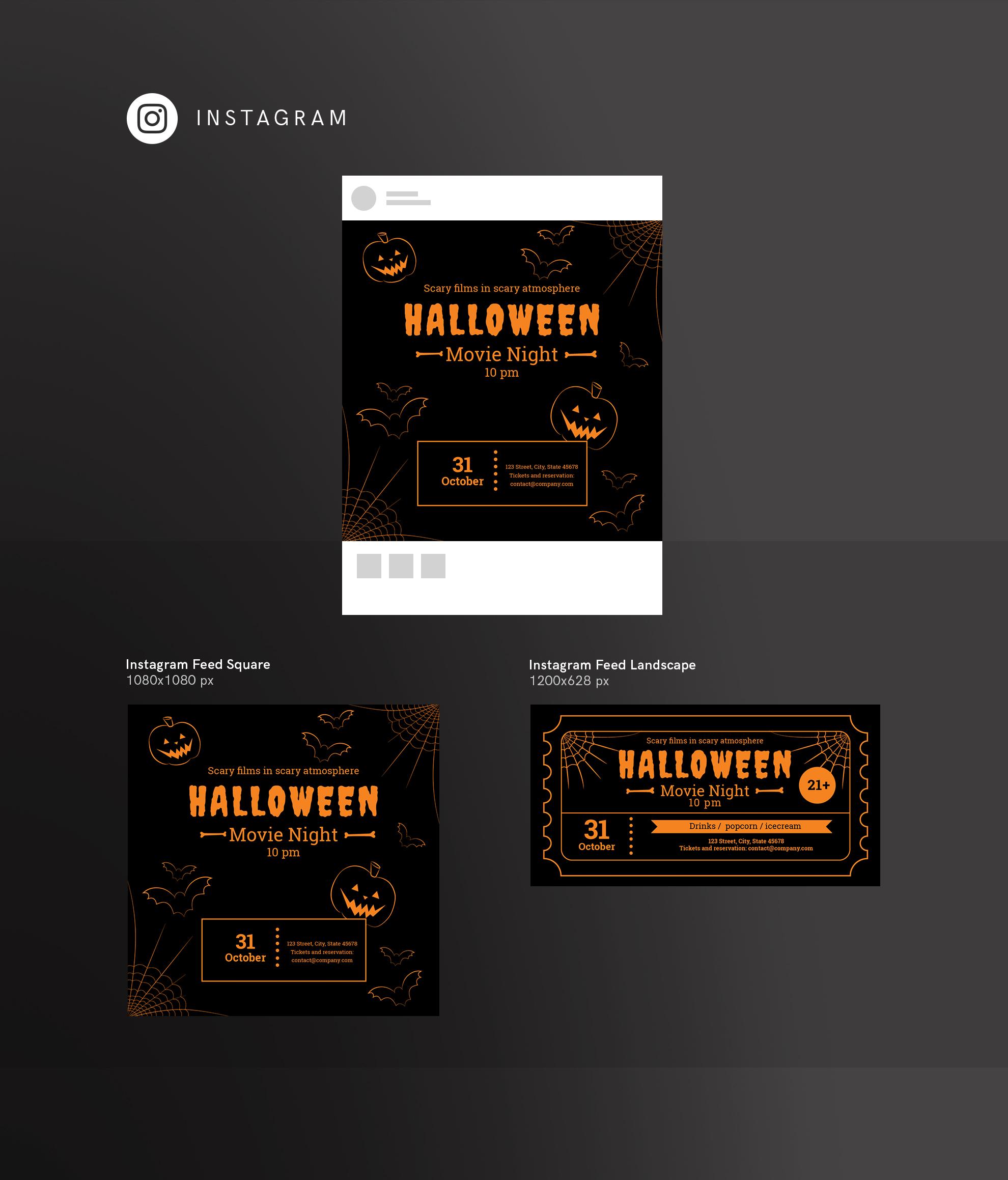 Halloween Movie Night Design Templates Bundle example image 15