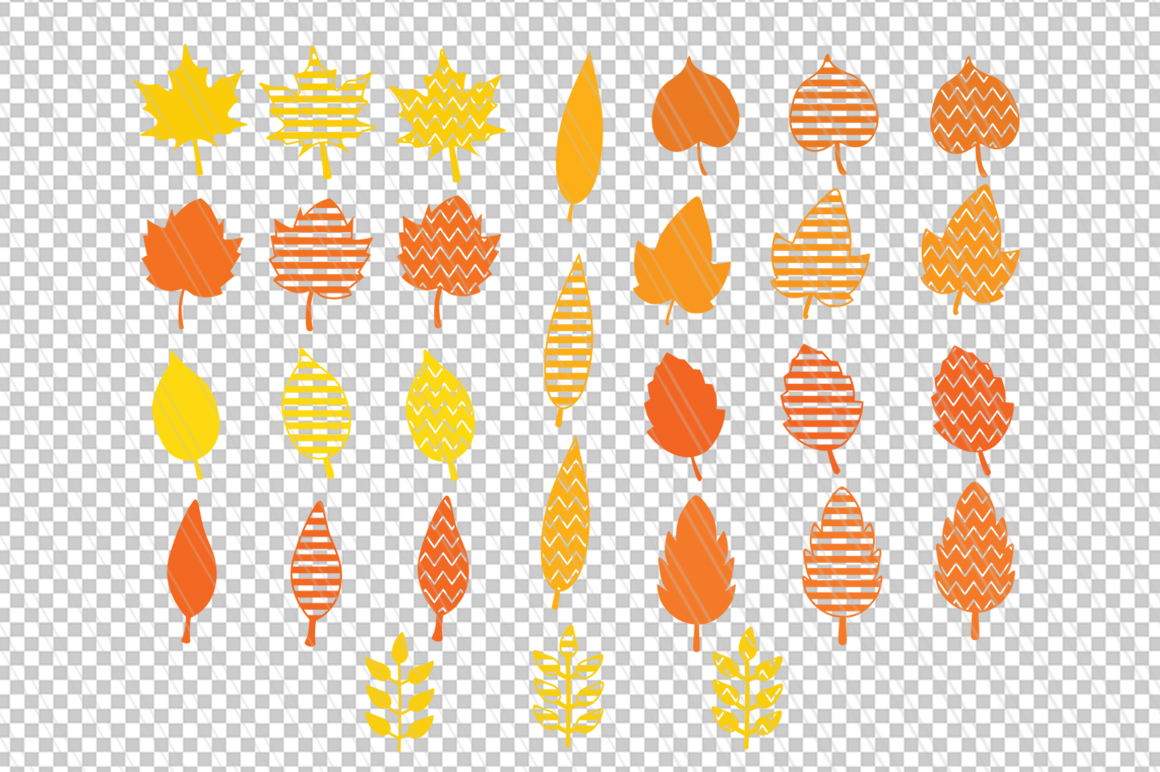 Autumn Fall leaves svg / dxf cutting files example image 2