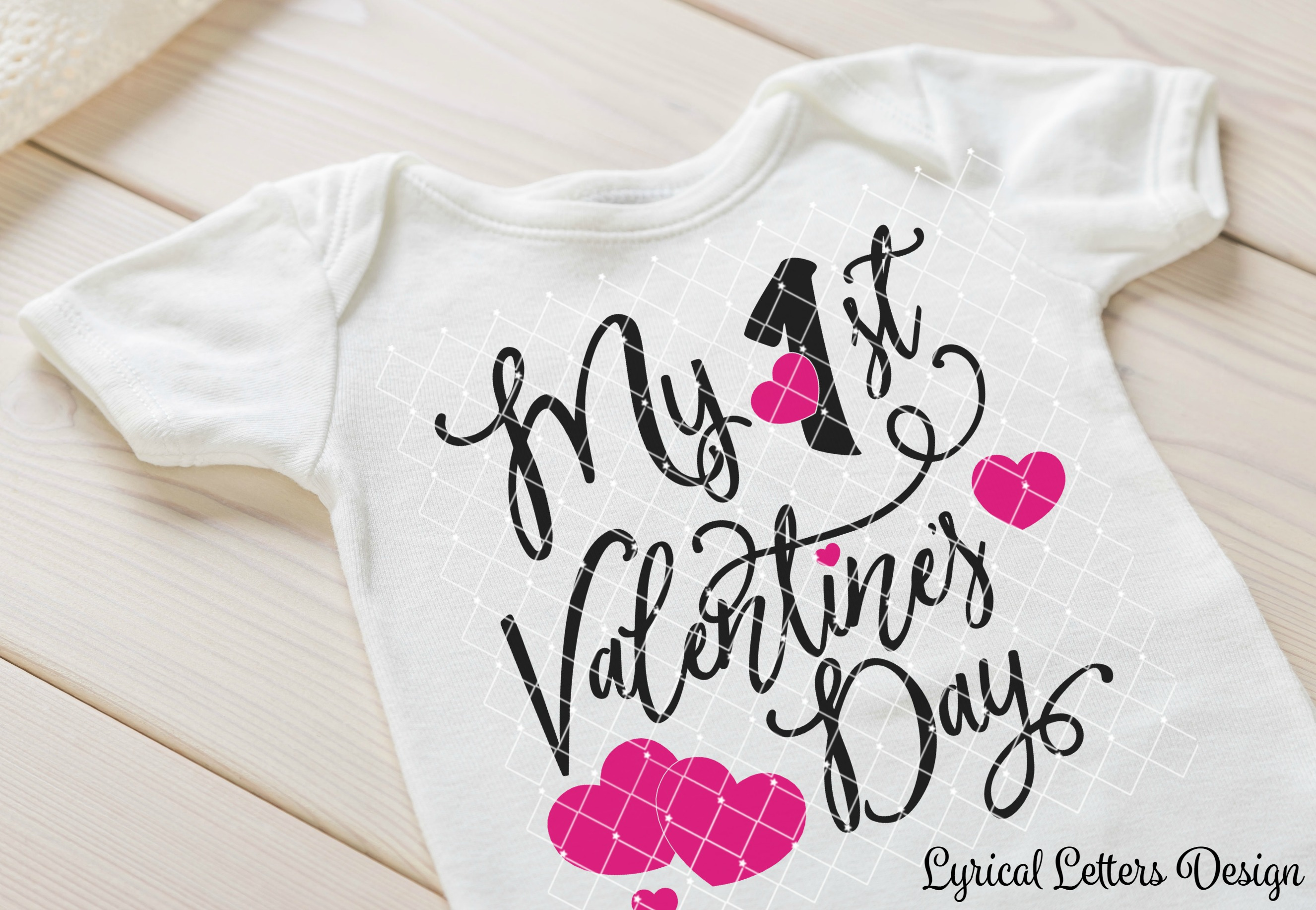 My First Valentine's Day SVG DXF Cut File LL174A example image 2