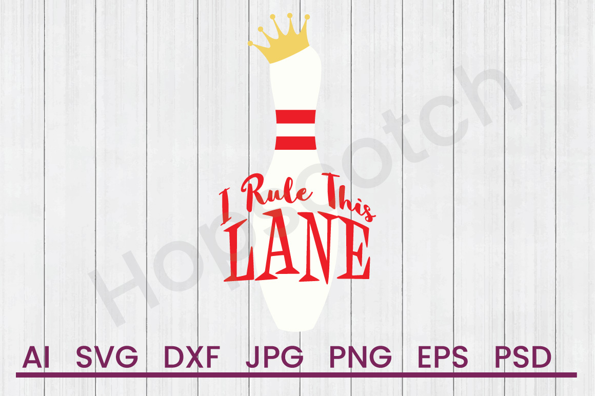 Bowling Pin SVG, Rule Lanes SVG, DXF File, Cuttatable File example image 1