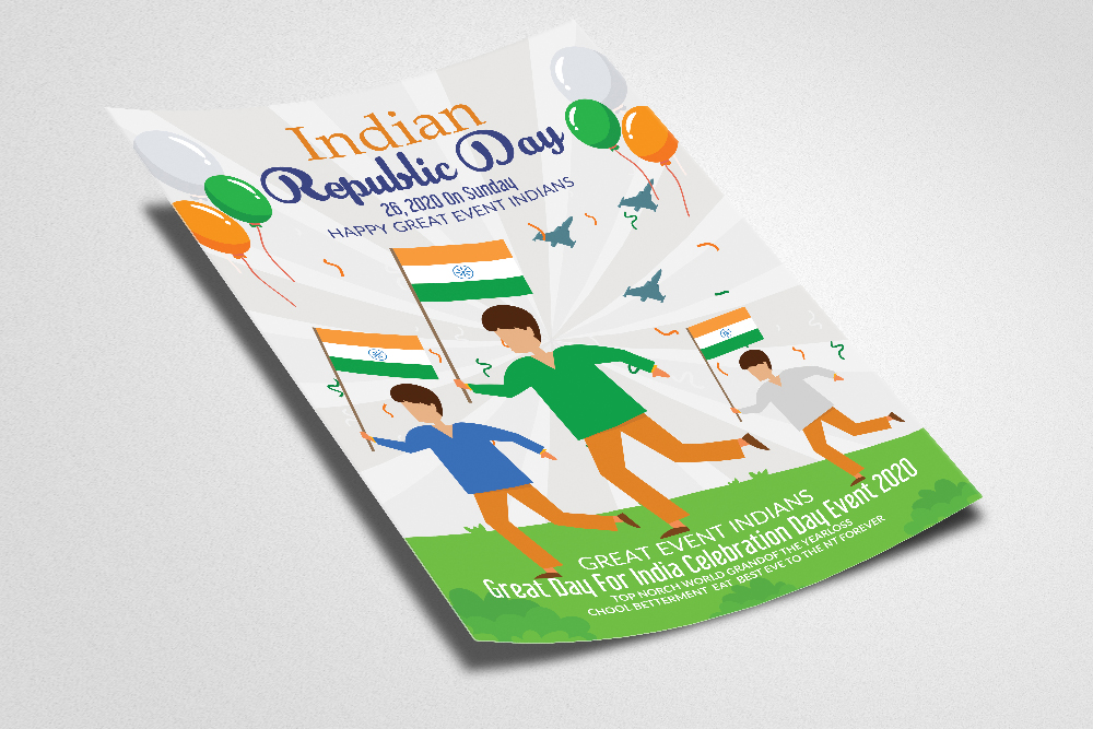 Indian Republic Day Flyer Template example image 2