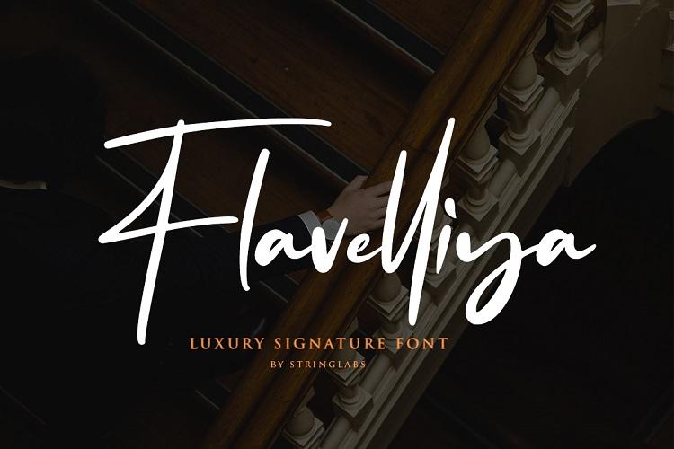 Flavellya - Luxury Signature Font example image 2