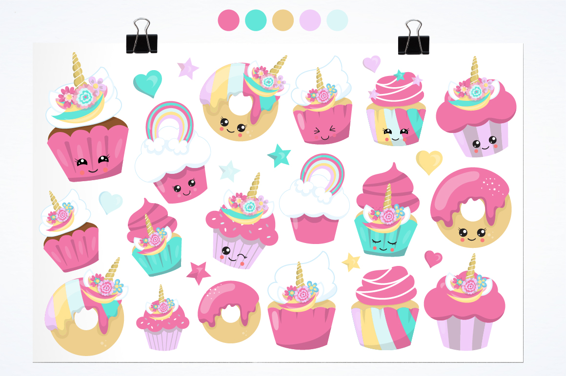 Unicorn Treats graphics and illustrations example image 5