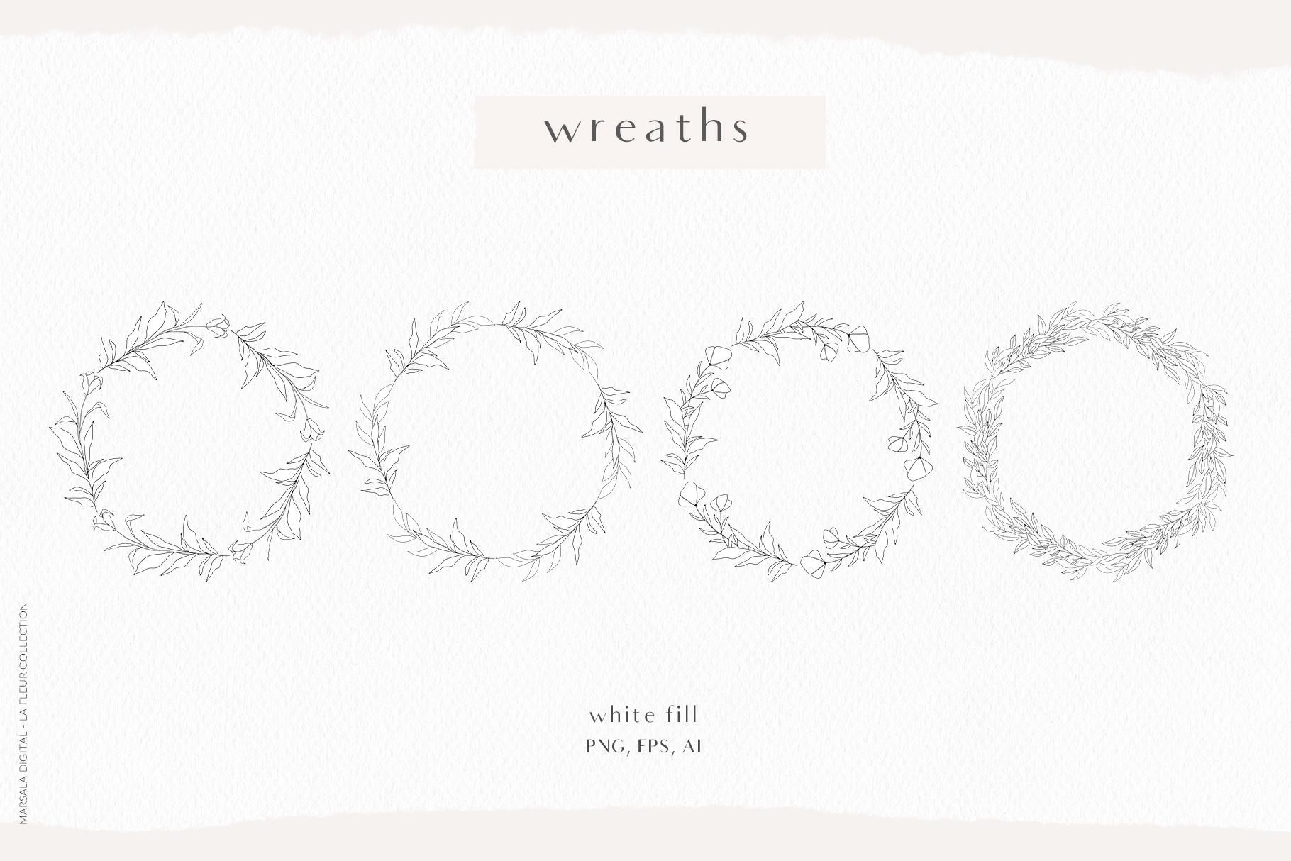 Floral Pencil Sketches Line Art - La fleur example image 3