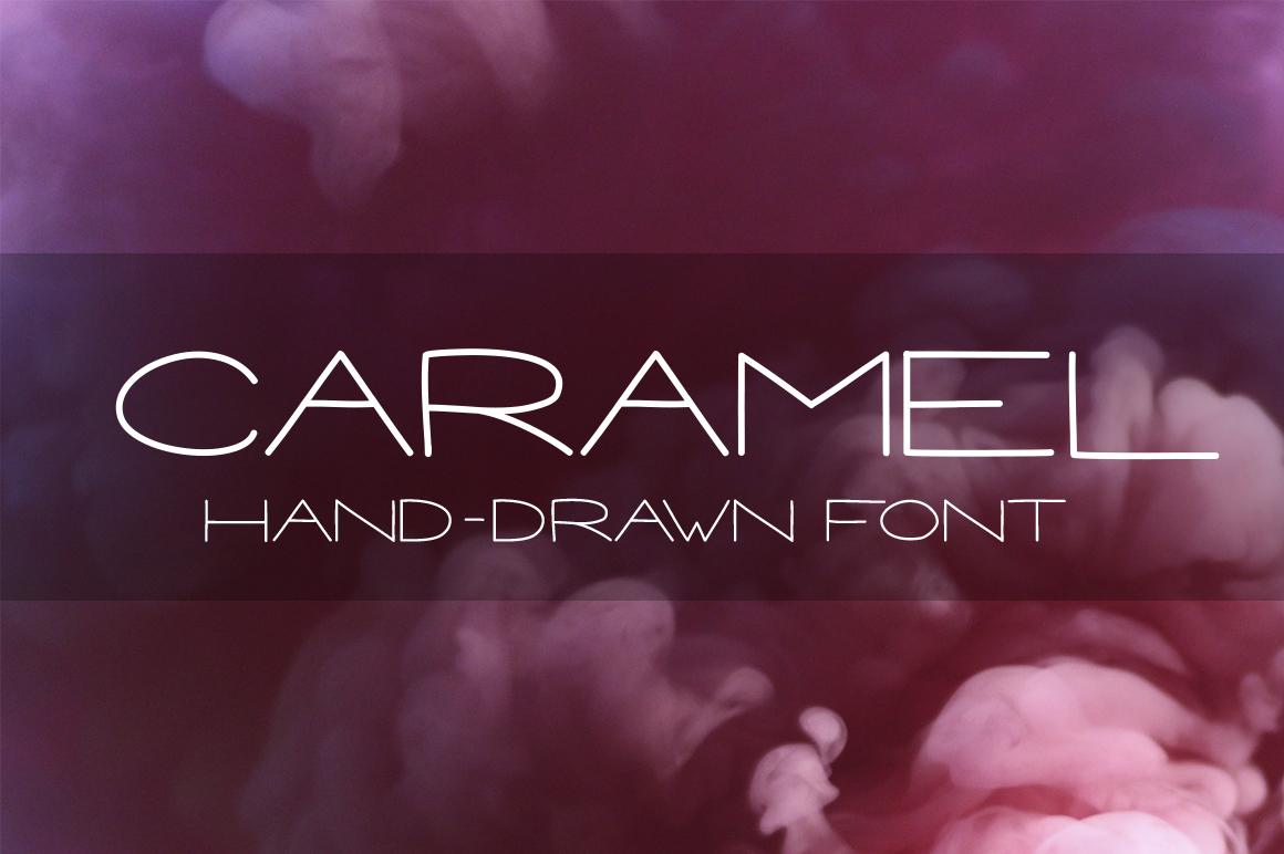 CARAMEL - Hand drawn Sans Serif font example image 1