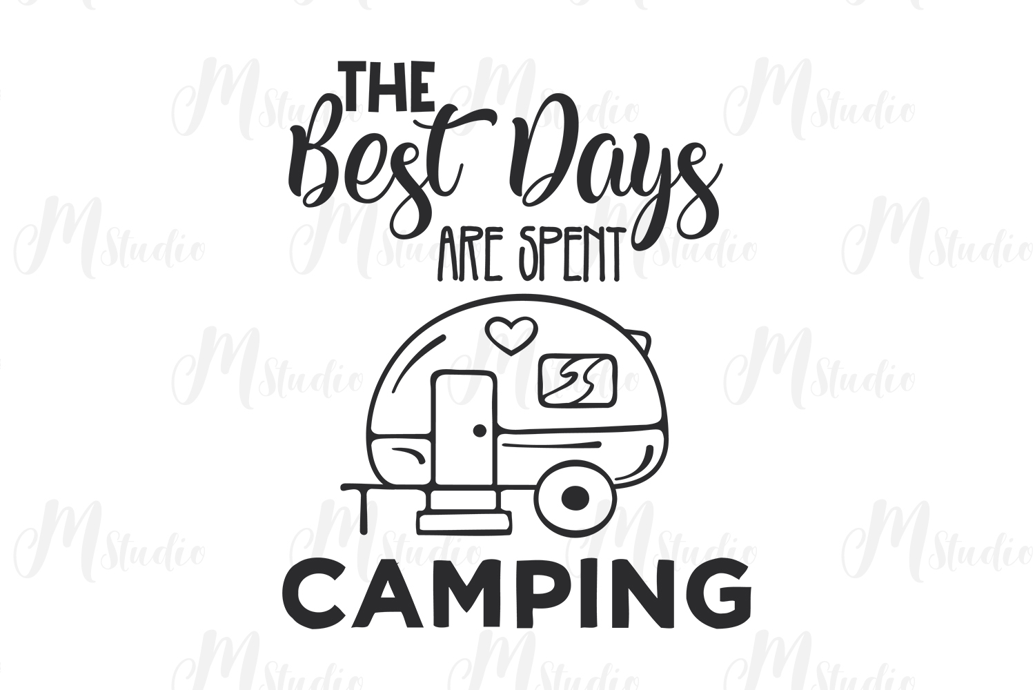 Camping SVG Bundle. example image 24