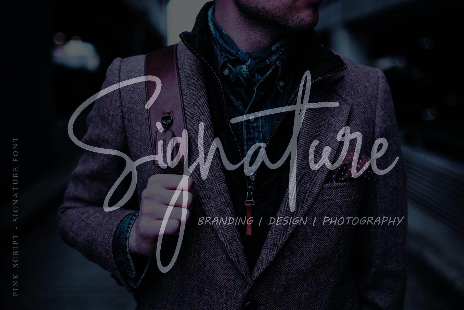 Pink Script - Beautiful Signature Font example image 3