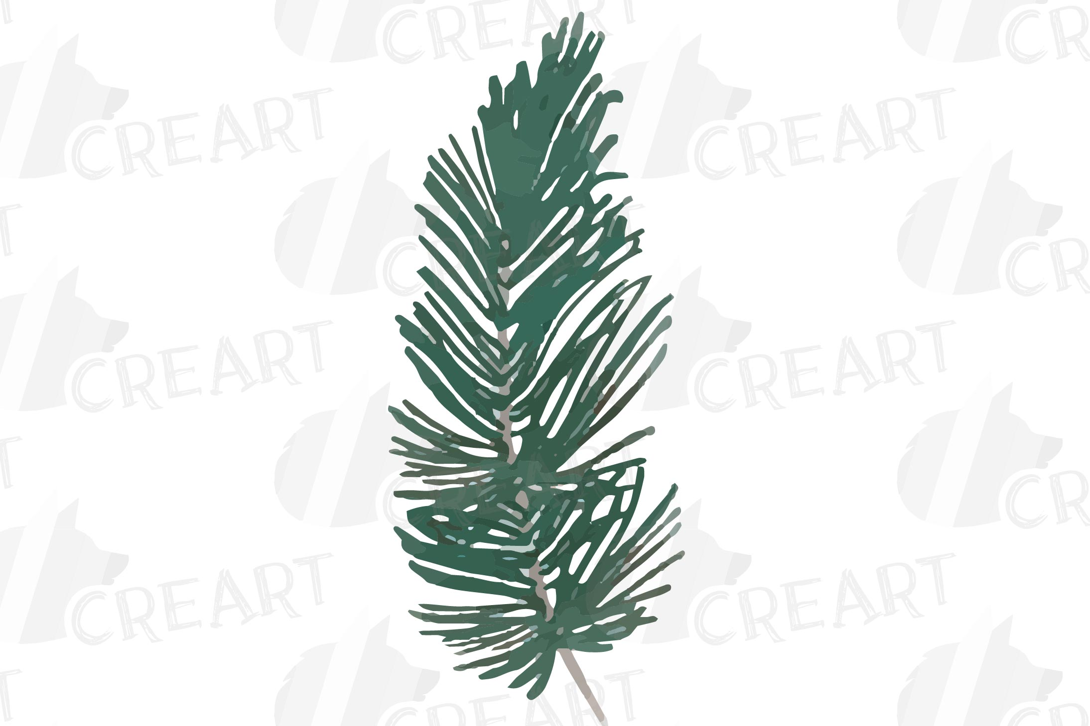Cotton bolls and fir branch leafy autumn and winter decor example image 6