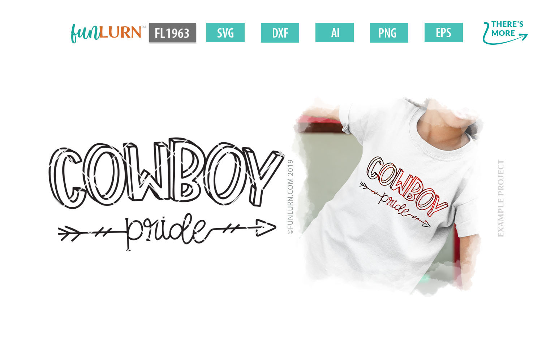 Cowboy Pride Team SVG Cut File example image 1