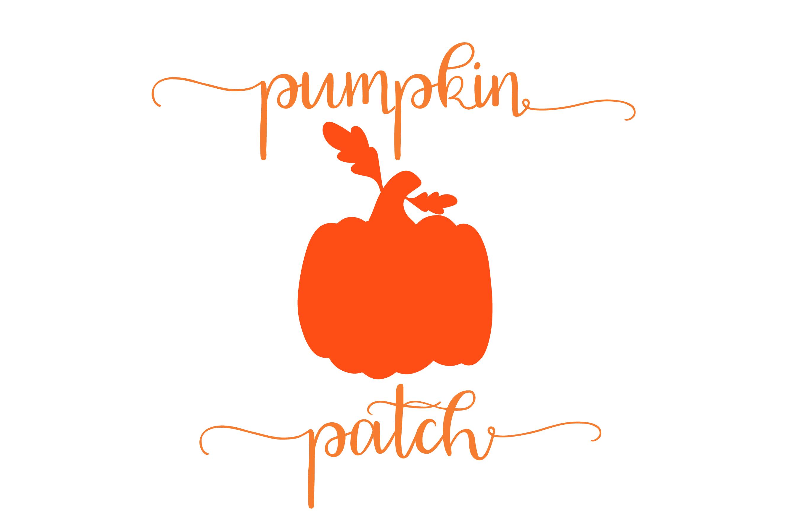 Pumpkin patch - Pumpkin Monogram 5 Designs SVG cut File example image 2