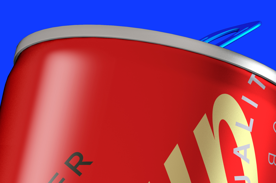 Energy Drink Can Mockup 250ml Bottom View example image 7