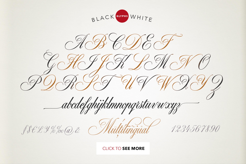 Black & White - premium quality font example image 12