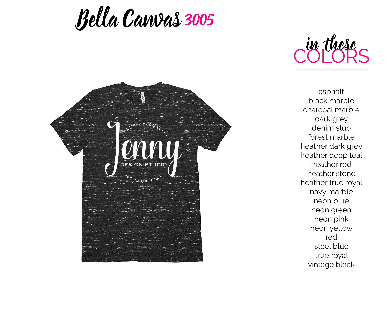 Bella Canvas 3005 Mockup Bundle, V-Neck Tshirt Bundle example image 4