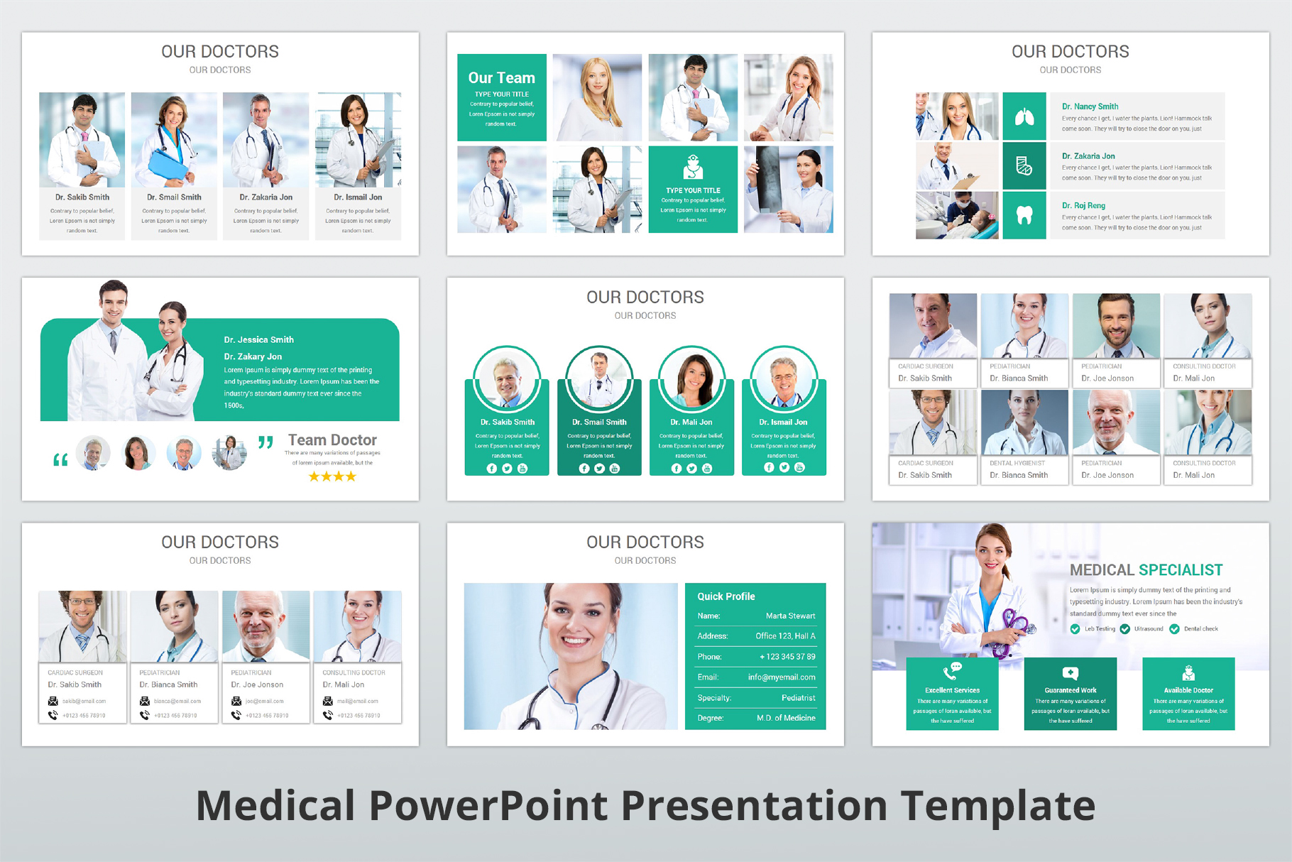 Medical and Healthcare Presentation PowerPoint Template example image 8
