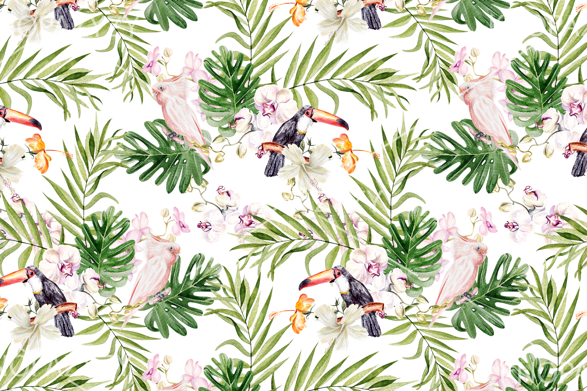 16 Hand Drawn Watercolor Pattern example image 5