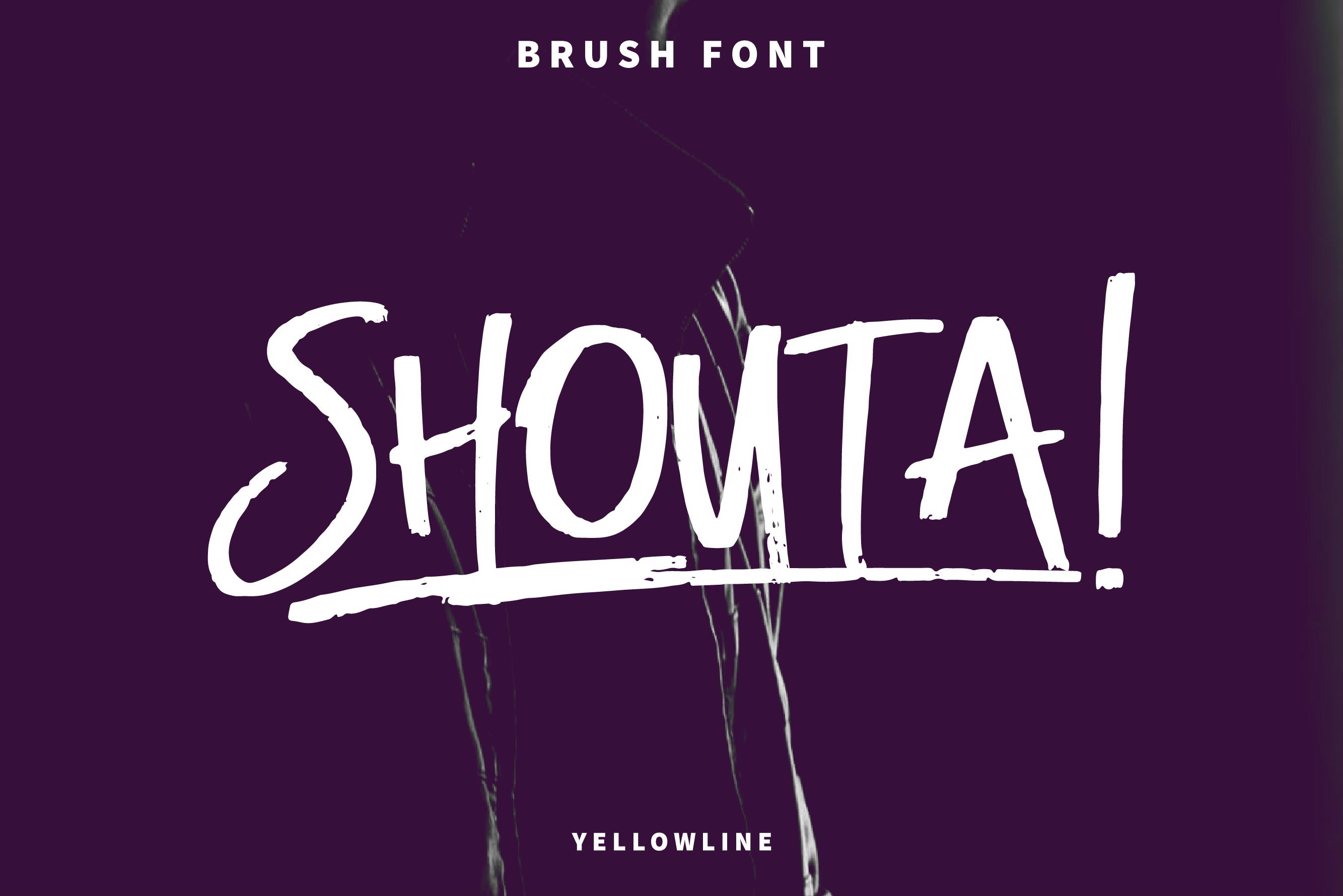 Shouta! Brush Font example image 1