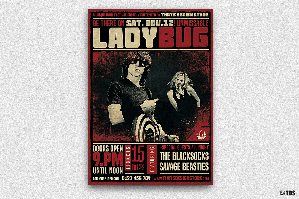 Live Band Flyer Bundle V4 example image 3