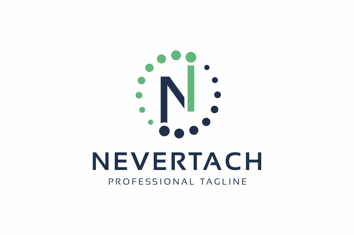 Nevertach N Lettre Logo example image 1