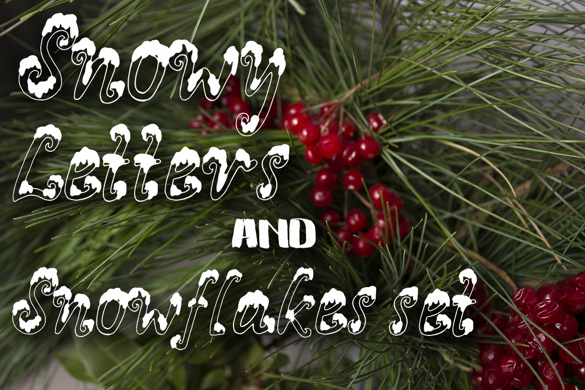 Snowy X-mas font example image 5