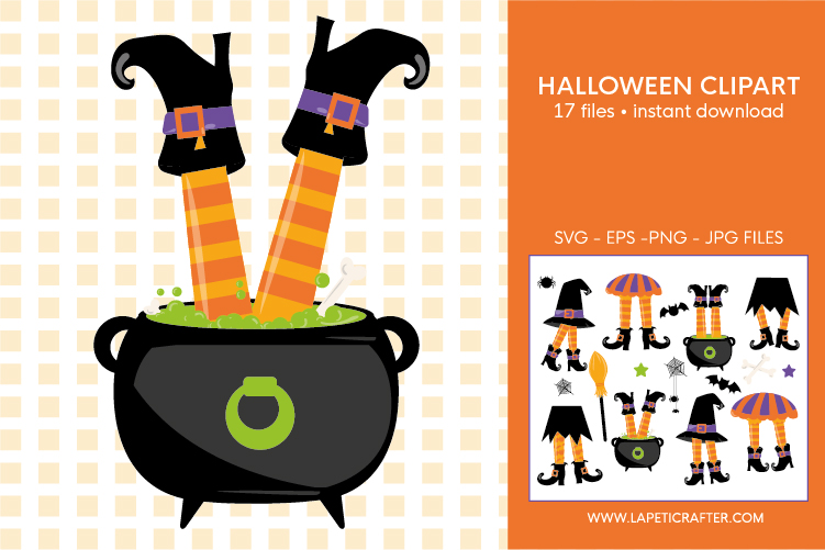 Halloween witch legs clipart, wicked witch party decorations example image 9