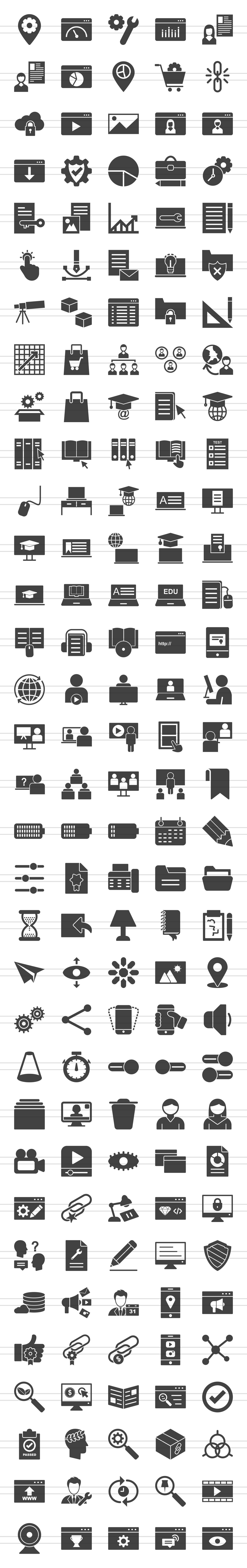 166 Web Glyph Icons example image 2