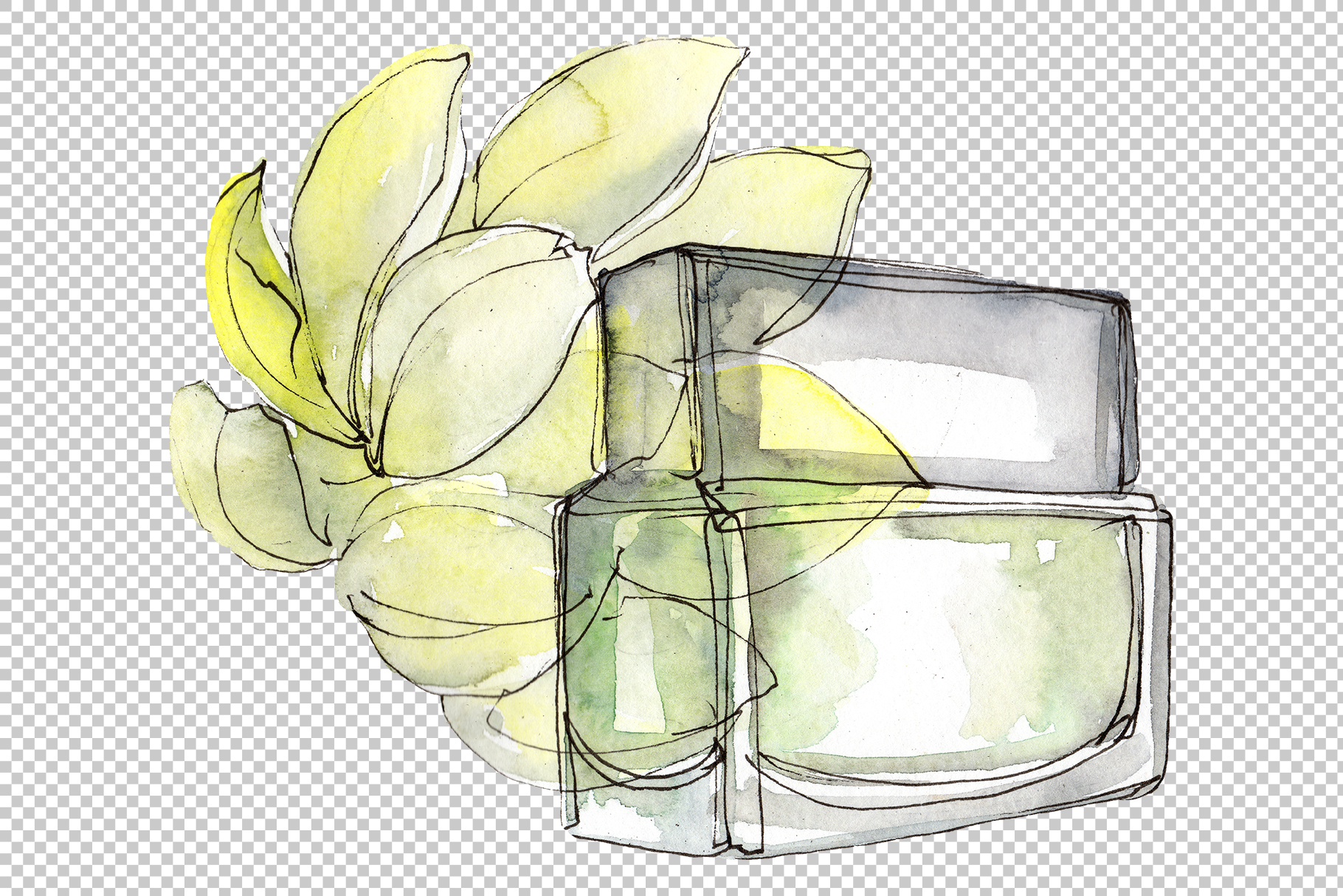 Fashion and style watercolor png example image 3