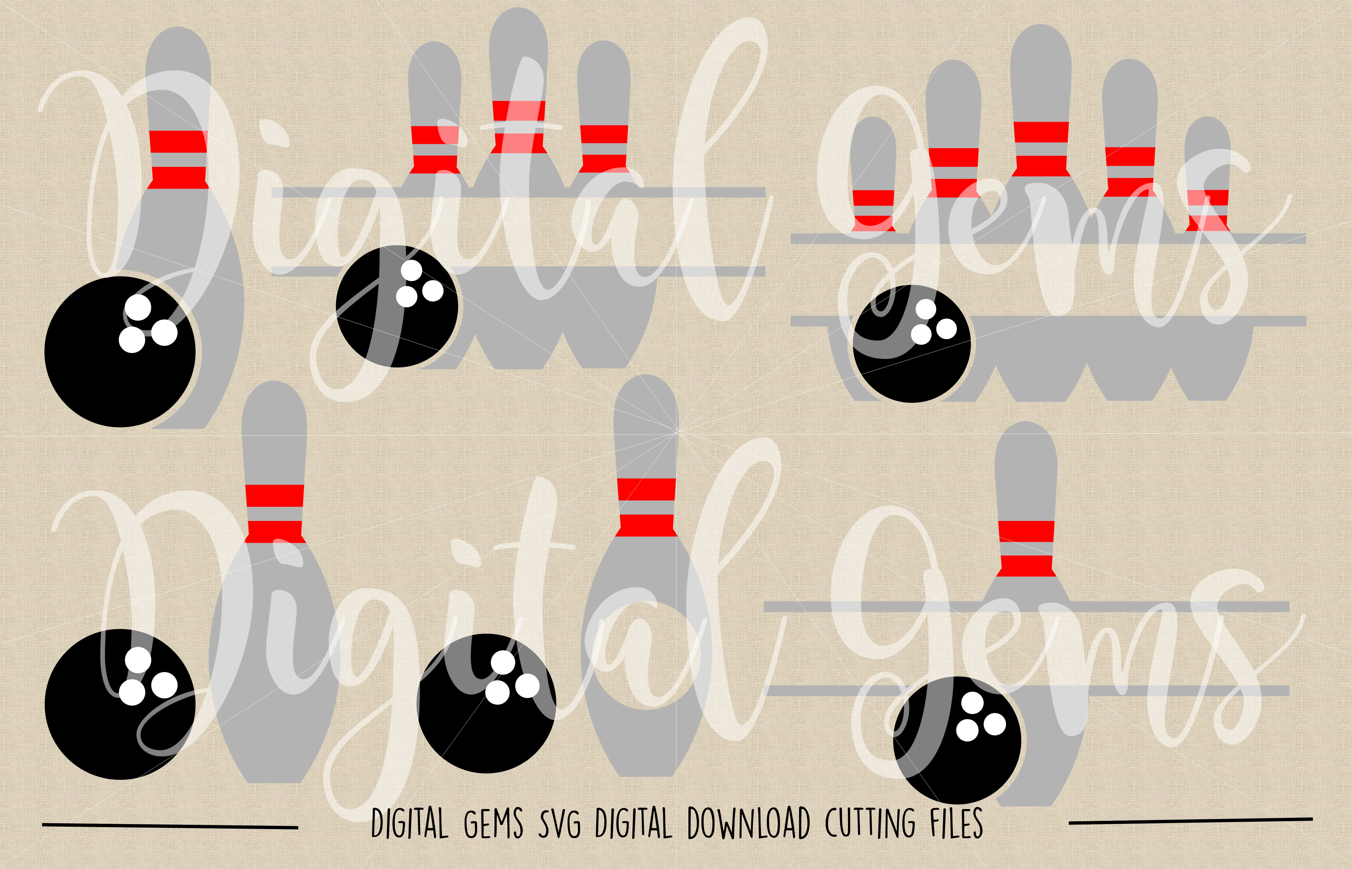 Bowling SVG / DXF / EPS / PNG files example image 2