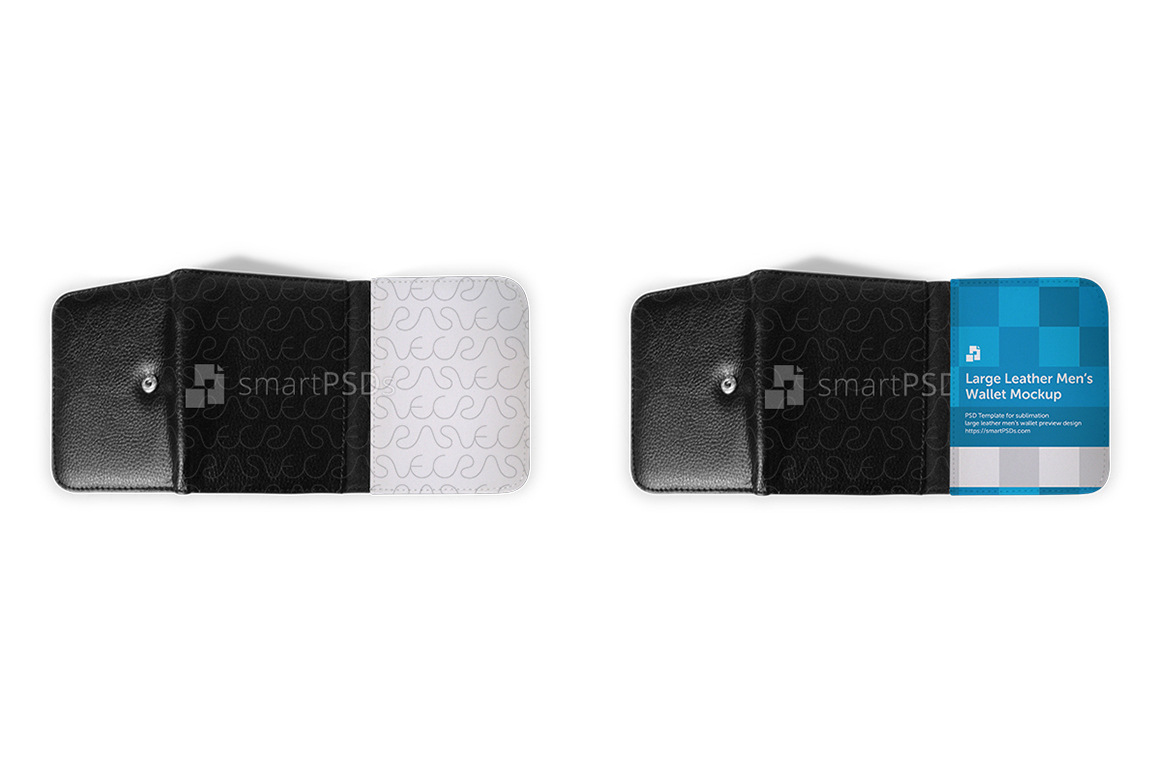 Large Leather Men's Wallet Mockup for Sublimation Preview Design example image 2