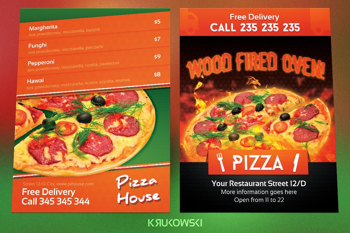 Pizzeria Flyers Bundle example image 3