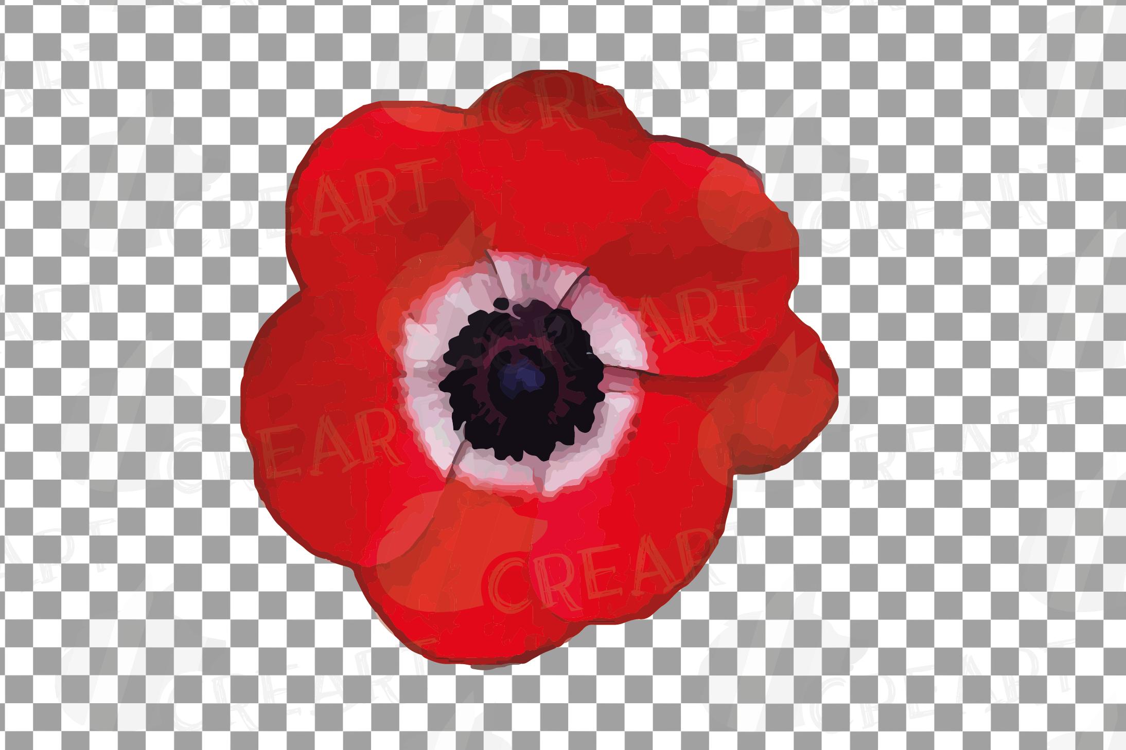 Anemone watercolor clip art pack, watercolor anemone design example image 15